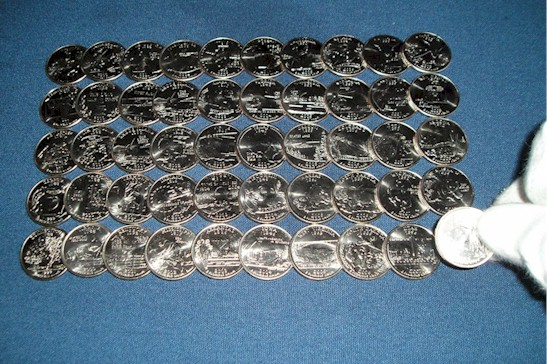 All Complete Set Uncirculated State Quarters Quarter Holder - Complete 50 state quarter set